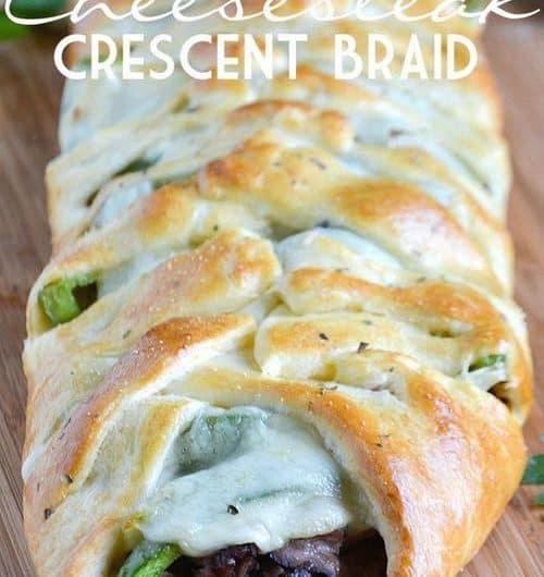 Philly Cheesesteak Crescent Braid Recipe