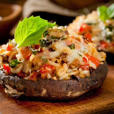 Healthy Stuffed Portobello Mushrooms