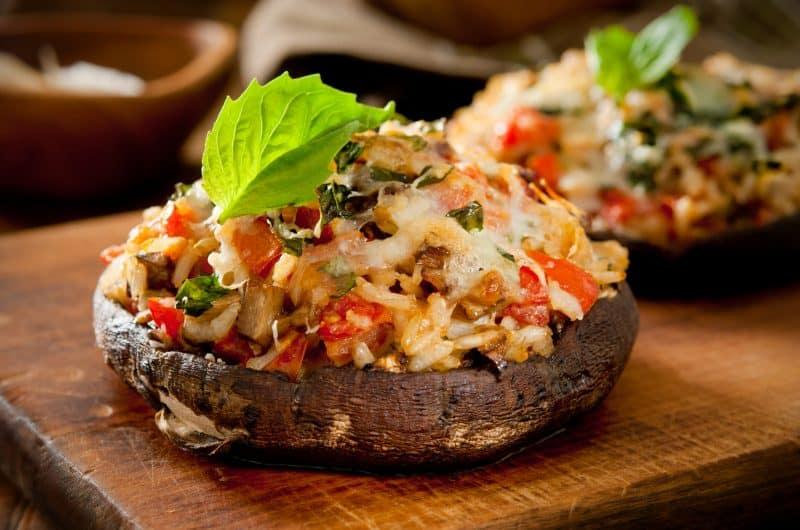 Easy Portobello Stuffed Mushrooms Recipe