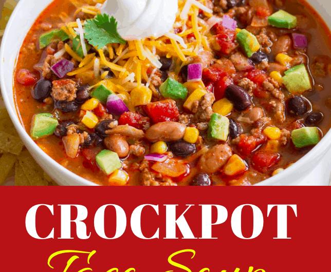 Best Crockpot Taco Soup Recipe