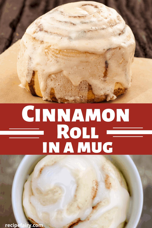 cinnamon roll mug cakes