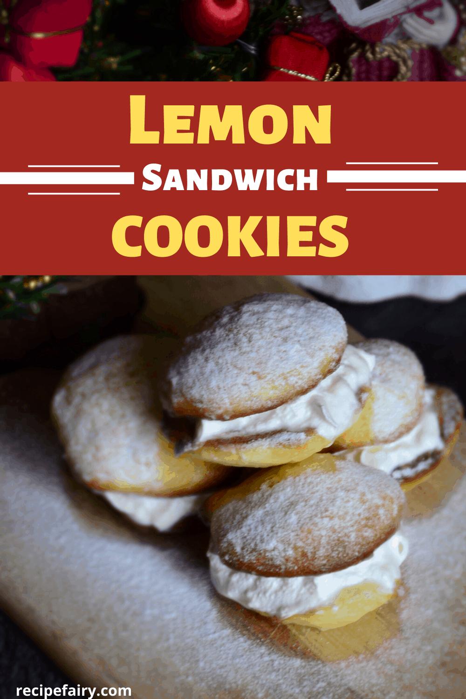 lemon cream sandwich cookies