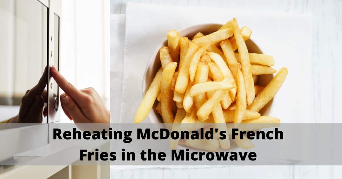 reheat fries using the microwave