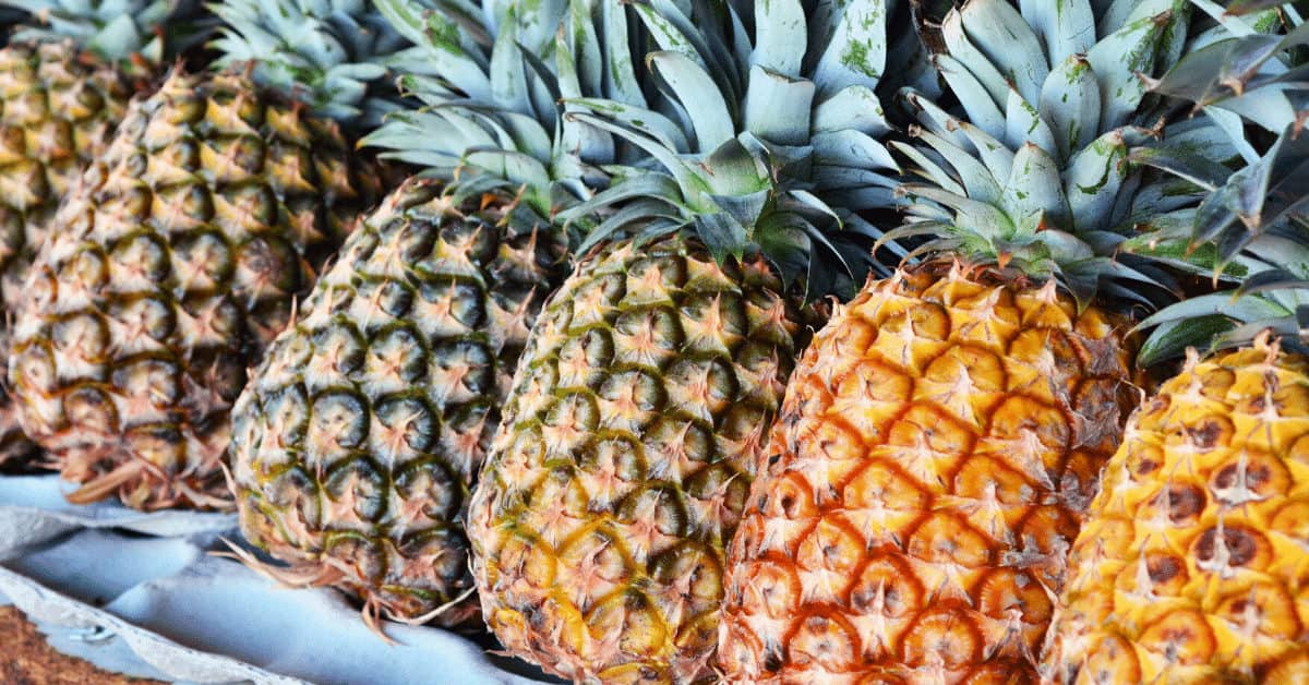 ripening a pineapple