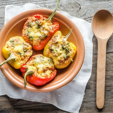 bell peppers with ground beef