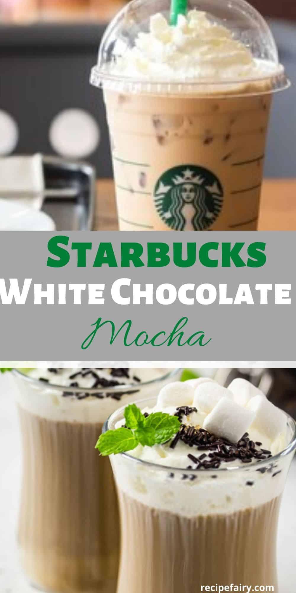 copycat Starbuck white chocolate mocha