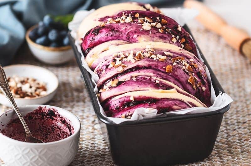 Blueberry Cream Cheese Babka