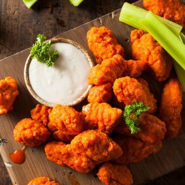 chicken wings serving