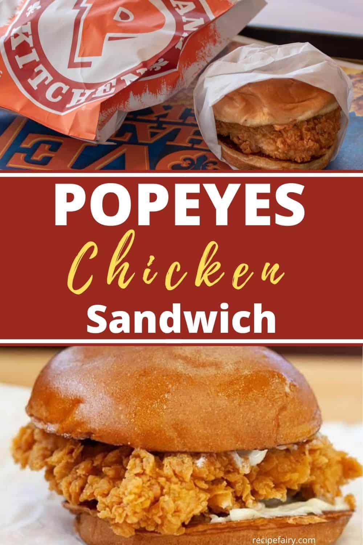 easy popeyes chicken sandwich