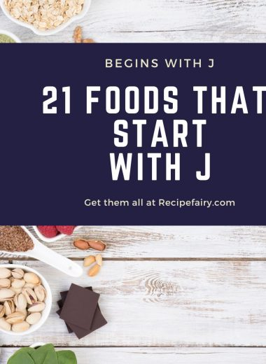 foods that begin with the letter J