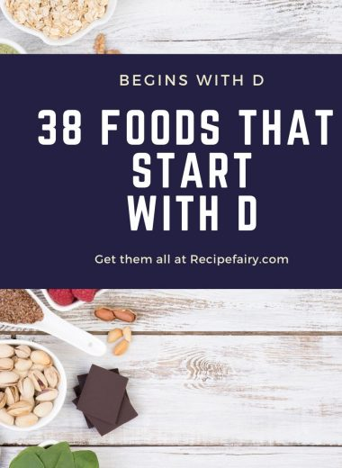 foods that begin with the letter d (1)