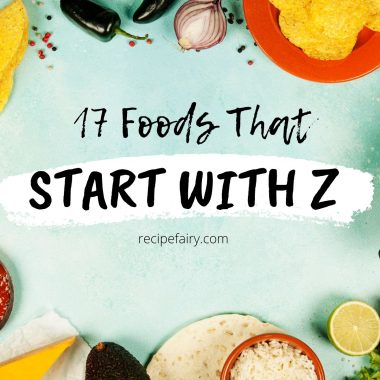foods that start with the letter z
