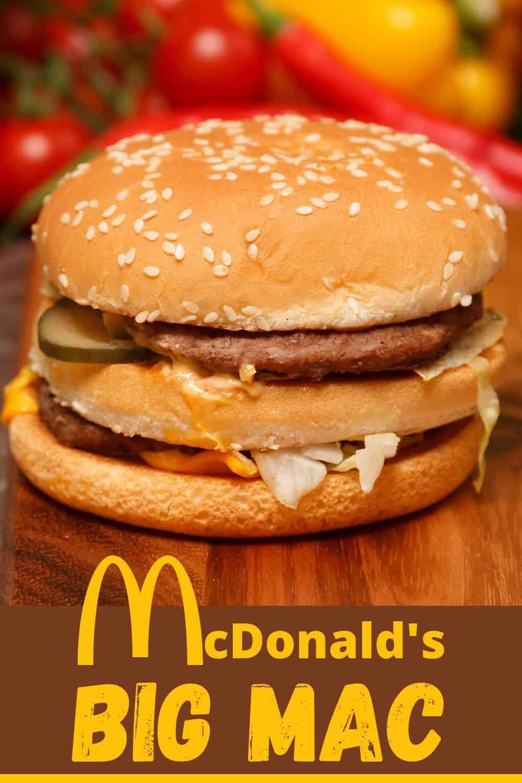 Mcdonalds big mac recipe