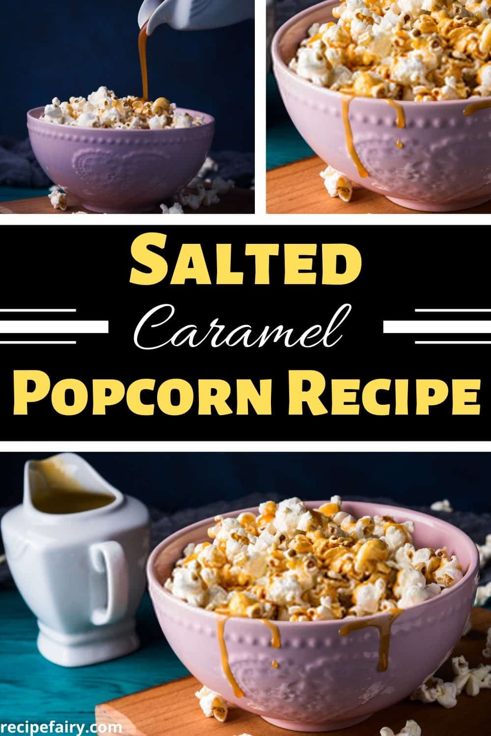 salted caramel with popcorn